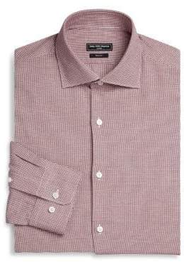 Saks Fifth Avenue MODERN Basic Stretch Gingham Button-Down Dress Shirt