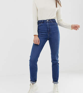 Asos Tall DESIGN Tall Recycled Farleigh high waisted slim mom jeans in dark wash