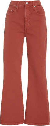 Nobody Denim Belle Cropped High-Rise Flared Jeans