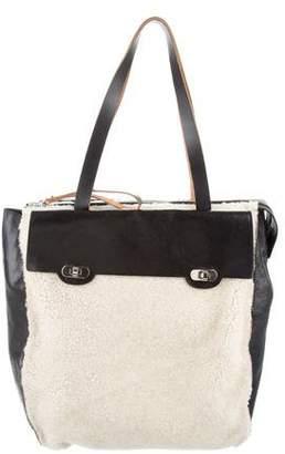 Marni Leather & Shearling Shoulder Bag