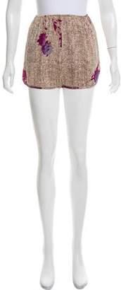 A Détacher Silk Printed Shorts