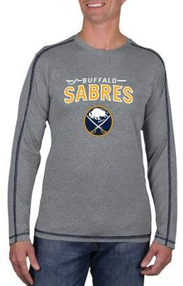 Buffalo David Bitton NHL Sabres Big Men's Athletic-Fit Long Sleeve Impact Tee Shirt