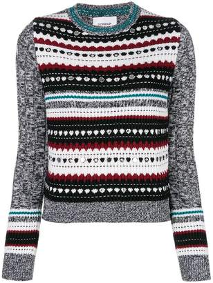 Dondup contrast embroidered sweater