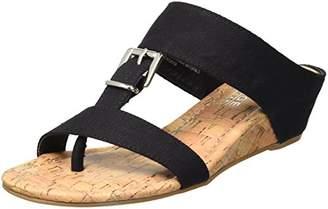 Rampage Women's Senorita Demi-Wedge T-Strap Thong Sandal