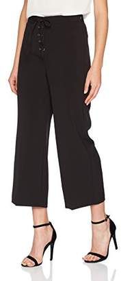 Womens Lace up Miller Crop Trousers New Look Xrs6O9c8NB
