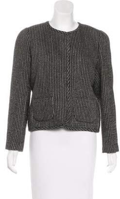 Aubin and Wills Stripe Wool-Blend Jacket