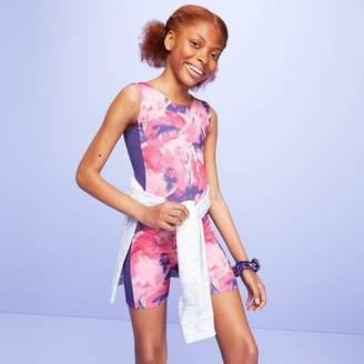 More than Magic Girls' Paint Strokes Gymnastics Biketard - More Than MagicTM Pink