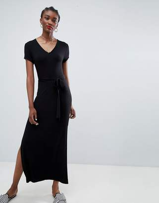 New Look Plain V Neck T-Shirt Maxi Dress