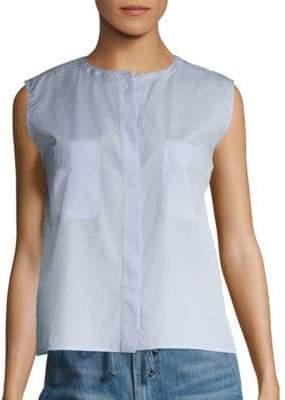 Vince Cropped Cotton Shirt