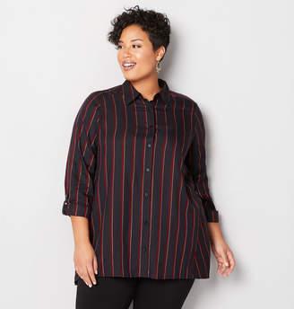 Avenue Lurex Stripe Sharkbite Shirt