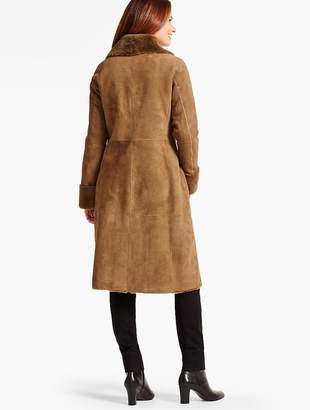 Talbots Long Shearling Coat