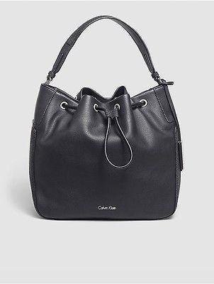Calvin KleinCalvin Klein Womens Nina Bucket Bag Black