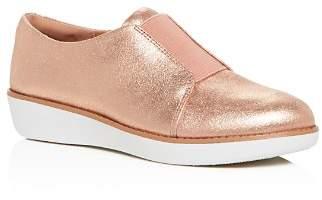 FitFlop Women's Laceless Derby Nubuck Leather Slip-On Sneakers