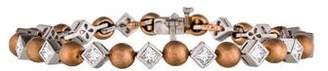 Charles Krypell Two-Tone Diamond Link Bracelet