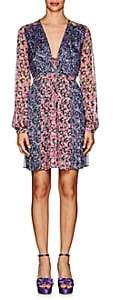 RAQUEL DINIZ Women's Valentina Floral Silk Mini Peasant Dress-Pink Multi