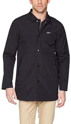 Lacoste Men's Nylon Twill Coaches Jacket with Interior Pop