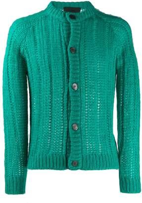 Prada open knit cardigan