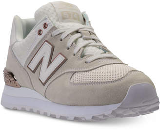 New Balance Women's 574 Rose Gold Casual Sneakers from Finish Line