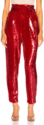 Sally Lapointe Stretch Sequins Tapered Pant