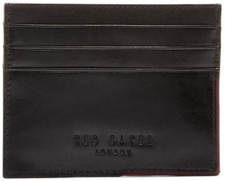 Ted Baker London Cooke Leather Corner Detail Card Holder $75 thestylecure.com