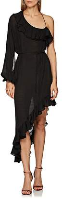 Juan Carlos Obando Women's Cotton-Blend Organdy One-Shoulder Wrap Dress