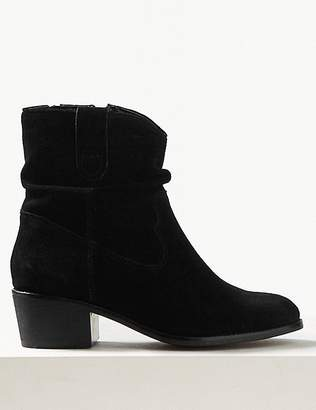 Marks and Spencer Suede Slouch Western Ankle Boots