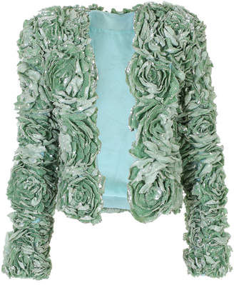 23c0e26a Balmain Floral-Embellished Sequined Jacket