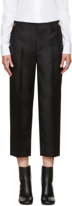 Dsquared2 Black Wool & Silk Maria Trousers $1,190 thestylecure.com