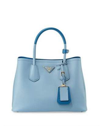 Prada Saffiano Cuir Double Medium Tote Bag $2,600 thestylecure.com