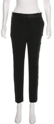 Celine Mid-Rise Silk-Trimmed Pants