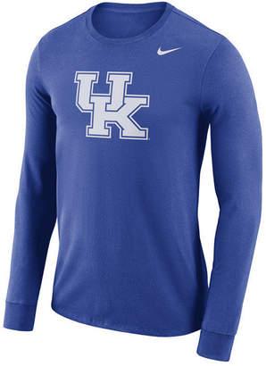 Nike Men's Kentucky Wildcats Dri-fit Cotton Logo Long Sleeve T-Shirt