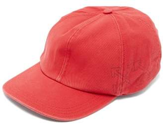 Off-White Off White Cross Arrow Cotton Baseball Cap - Mens - Red