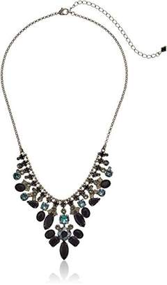 Sorrelli Onyx Multi-Cut Crystal Statement Necklace