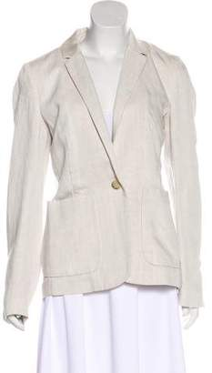 Closed Casual Notch-Lapel Blazer
