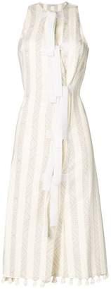 Altuzarra bow front tassel dress