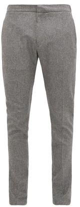 Salle Salle Seph Wool Slim Leg Trousers - Mens - Grey