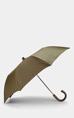 Barneys New York Men's Diamond-Pattern Folding Umbrella