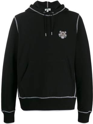 Kenzo Tiger embroidered hooded sweater