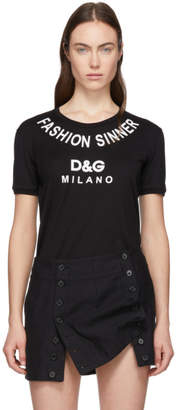 Dolce & Gabbana Black Fashion Sinner T-Shirt