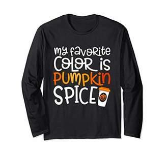 Favorite Color Pumpkin Spice Fall Long Sleeve