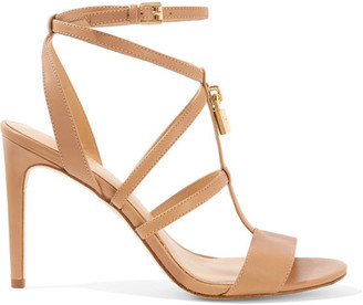MICHAEL Michael Kors - Antoinette Leather Sandals - Neutral $135 thestylecure.com