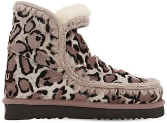 Mou 20mm Leopard Print Ponyskin Eskimo Boots