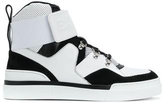 Balmain colourblock hi-top sneakers
