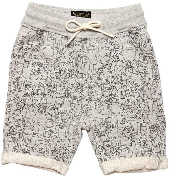 Sweatshirts Aus Baumwolle Mit The Simpsons-Druck