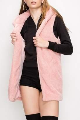 Olivia Pratt Teddy Faux Fur Vest