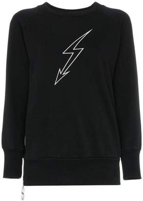 Givenchy lightning bolt graphic sweatshirt
