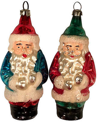 One Kings Lane Vintage Antique German Glass Gnome Ornaments Set of 2