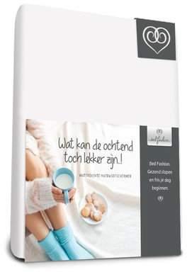 Camilla And Marc Van der genugten bedtextiel Bed-Fashion Waterproof Fitted Sheet, Flannel, White, Super-King, 200 X 210 Cm