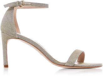 Stuart Weitzman Nunaked Metallic Woven Sandals