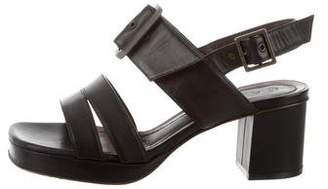 Marni Leather Ankle Strap Sandals